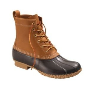LL Bean Tan and Brown Duck Boots